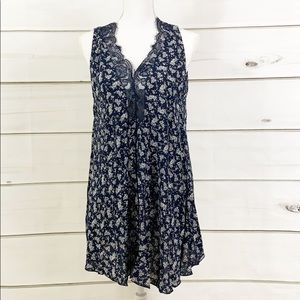 NWT Navy Floral Tunic Dress